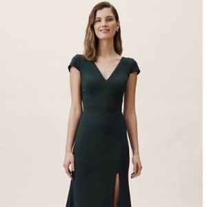 Emerald green BHLDN Ara Dress, brand new with tags